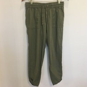 Old Navy Linen Pants in Green. Size XS. Mid Rise